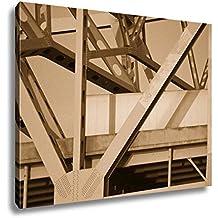 Ashley Canvas Bridge Between Indiana And Kentucky, Kitchen Bedroom Living Room Art, Sepia 24x30, AG5672917