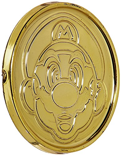 Amscan Super Mario Brothers Birthday Party Coins Favors (12 Pack), 1 3/8