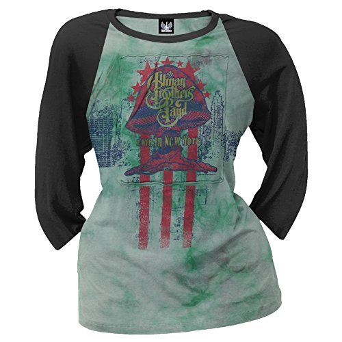 Allman Brothers - Womens Vintage Rocker Juniors Raglan Large - Promotions Allman