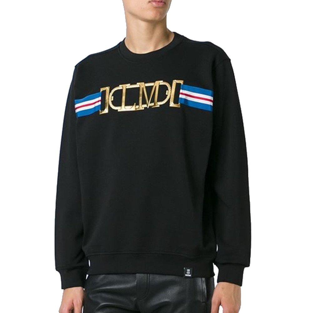 Love Moschino Sweathshirt With Bling Logo, Black (MEDIUM)