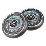 Kutrick Complete 2pcs 100mm Hollow Scooter wheels Pairs 100mm Pro Scooter wheels Replacement