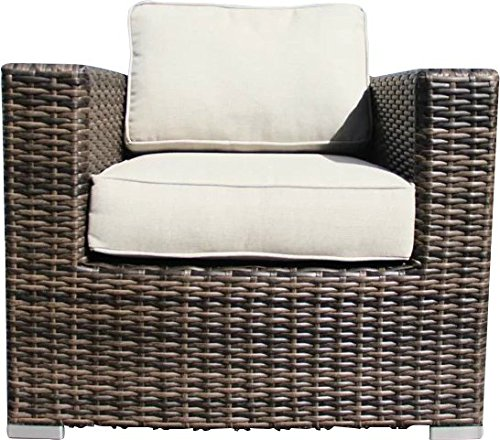Living Source International Patio Sofa Couch Garden, Backyard, Porch or Pool All-Weather Wicker with Thick Cushions by Living Source International (Image #7)