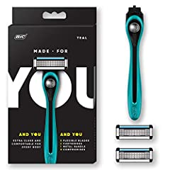 """The """"Made For YOU"""" Shaving Razor provides a long-lasting smooth close shave.When it comes to shaving, it's important to have a comfortable, flexible system that works for you - all at an affordable and convenient price. The Made For YOU shavi..."""