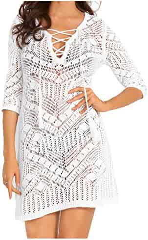 YoYoly Bathing-Suit-Cover-Ups for Women,Crochet Swimsuit-Cover-Up for Beach Dress Swimwear Bikini Coverup Top
