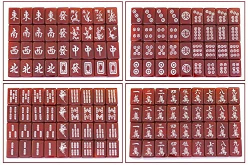 Ding Natuurlijke Agaat Mahjong Luxury Souvenir Home Entertainment Educatief speelgoed Collection Five-layer Red Walnut Houten Doos