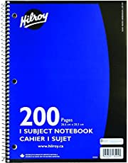Hilroy Coil 1-subject Wide Ruled Notebook, 10.5 X 8 Inches, 3 Hole Punched