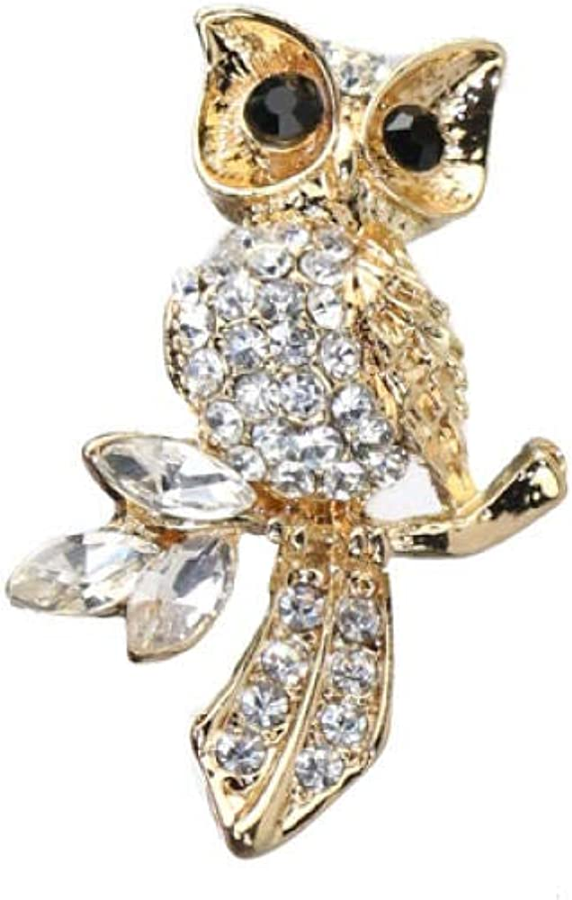 Owl Brooch Anti-Going Silk Scarf Buckle Coat Western Ornament Badge Gift