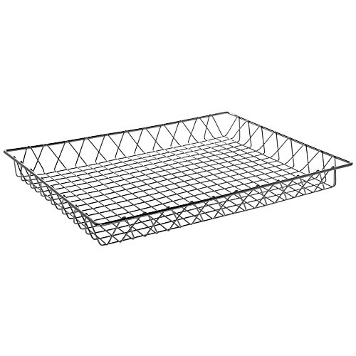 Plated Chrome Grid (HUBERT Commercial Wire Display Basket Rectangular Chrome Plated Pastry Basket Bakery Tray - 24