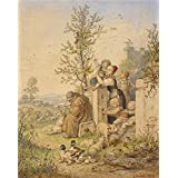 'Spring Has Arrived, 1870 By Ludwig Richter' oil painting, 16x20 inch / 41x51 cm ,printed on high quality polyster Canvas ,this Replica Art DecorativeCanvas Prints is perfectly suitalbe for Bedroom artwork and Home decoration and Gifts