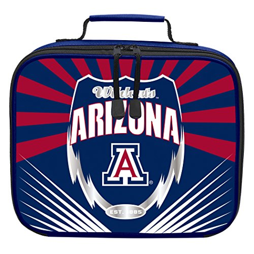 Officially Licensed NCAA Arizona Wildcats Lightning Kids Lunch Kit, Blue