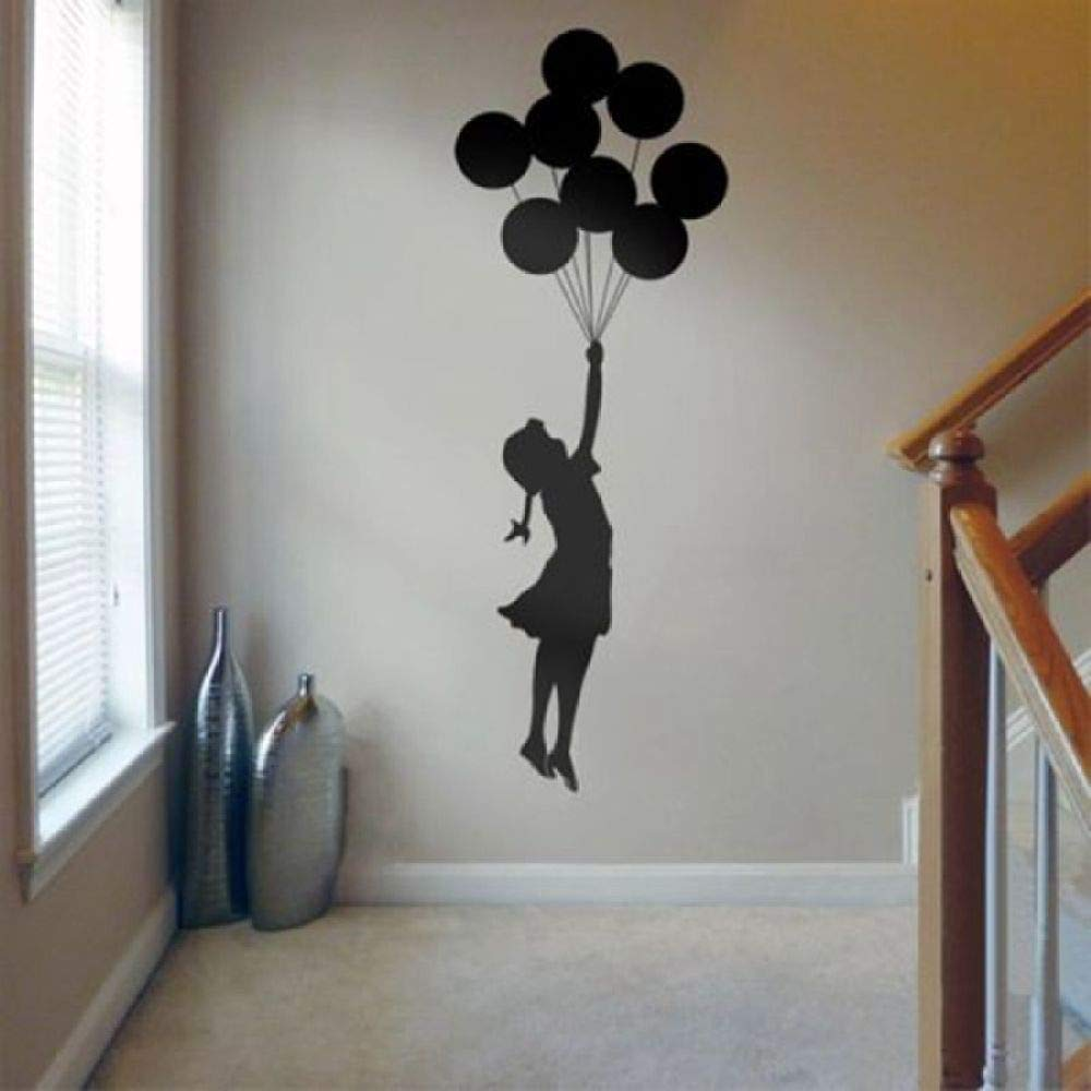 Zaosan Etiqueta de la Pared Globo Flotante Chica Banksy Artista ...