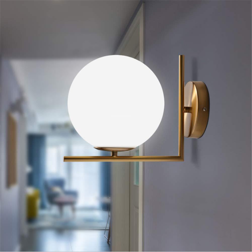 Wall Sconce Lamp Fixture Modern E27 LED Wall Lights Ball Lights Glass Wall Lights for Living Room Bedroom Corridor LED Wall Lighting (Diameter 20cm) ...