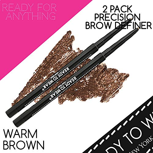 (Ready To Wear 2 PACK PRECISION BROW DEFINER Brow Artist (WARM BROWN))