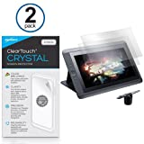 Wacom Cintiq 13HD DTK-1300 Screen Protector, BoxWave® [ClearTouch Crystal (2-Pack)] HD Film Skin - Shields From Scratches for Wacom Cintiq 13HD DTK-1300, 13HD Touch DTH-1300 | Cintiq Companion 2 DTH-W1310