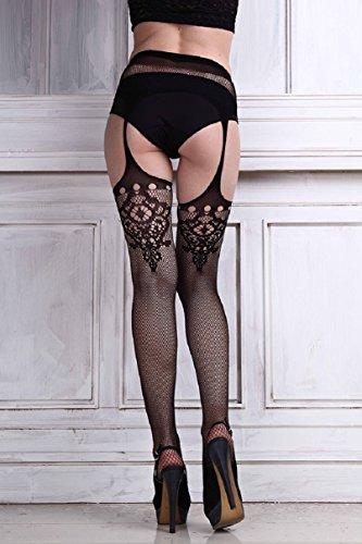 Netto Reggicalze Calza Coscia Donne Superiore Malloom® Collant Pizzo Sexy Lingerie In 8XYzRX