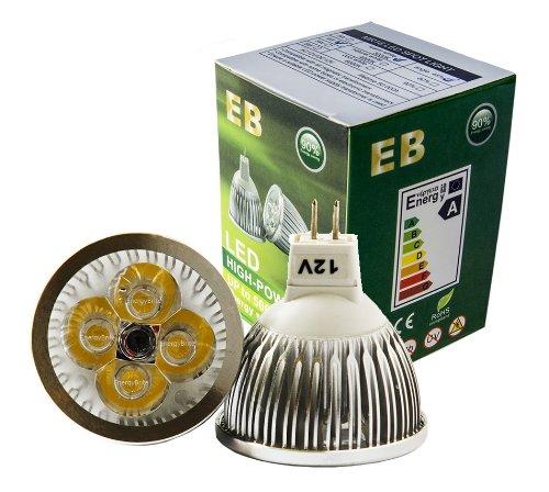 EnergyBrite - Bombilla LED (MR16, 4 W, 12 V LED, GU5.