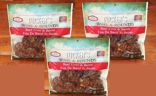Image of (3 Pack) Tucker's Wag-A-Rounds Beef Liver and Bacon Cups 18 Ounce each