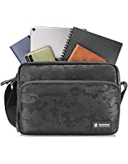 tomtoc Shoulder Bag, Lightweight Messenger Bag with Travel Storage for 10 Inch New iPad Air, iPad Mini 2019, New iPad Pro 11 Inch and iPhone Kindle Camera with Shoulder Strap and Accessory Pockets