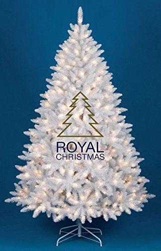 Tannenbaum Weiss Led.Royal Christmas Künstlicher Weihnachtsbaum Washington Promo Weiß Warm Led Höhe 180 Cm 7267