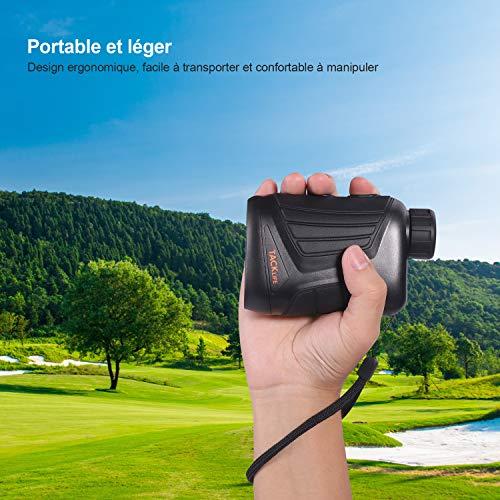 Télémètre Golf 800m, TACKLIFE Télescope Monoculaire Chasse 900yd MLR01, Grossissement 7x24mm, Précision de Distance 1m… 6