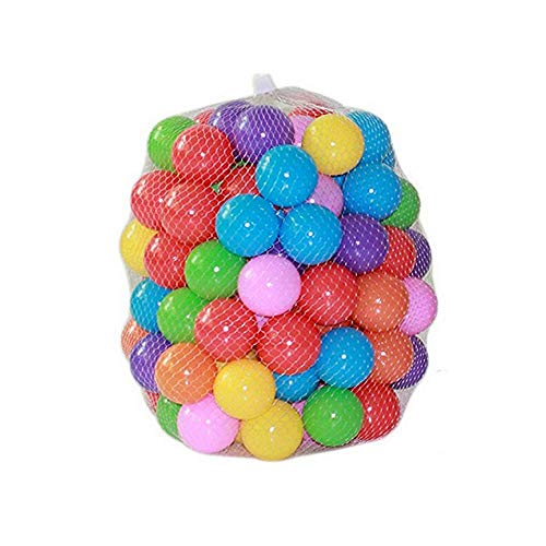 Small Plastic Balls - Kaptin 5.5cm Soft Plastic Ocean Ball,Colorful Ball Fun Ball Kids Ball Swim Pit Toy Ball Tent Toddler Ball (100pcs)