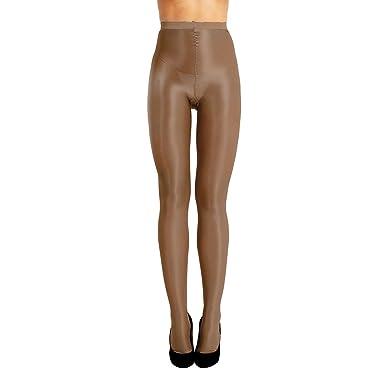 TiaoBug Femme Collant Brillant Legging Collant de Danse Bal Club Respirant  Collant Bas de Yoga Ballet c0cc5484fcf7