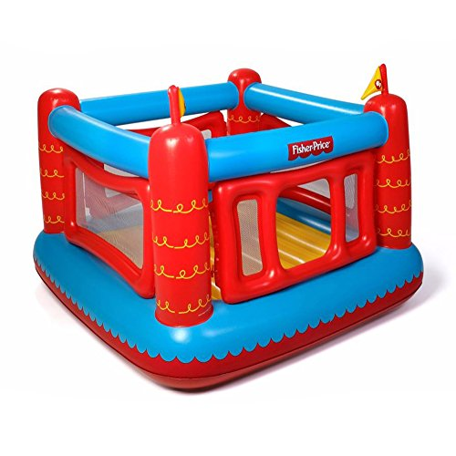 Fisher Price Bouncetastic Inflatable Castle Bouncer With Removable Mesh Walls (Indoor Inflatable Bouncer)
