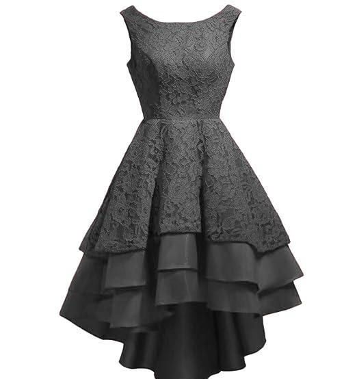75465e48f5a Chugu Women s Prom Party Dress Short Homecoming Dresses Juniors Lace A Line  Hi-Lo C21