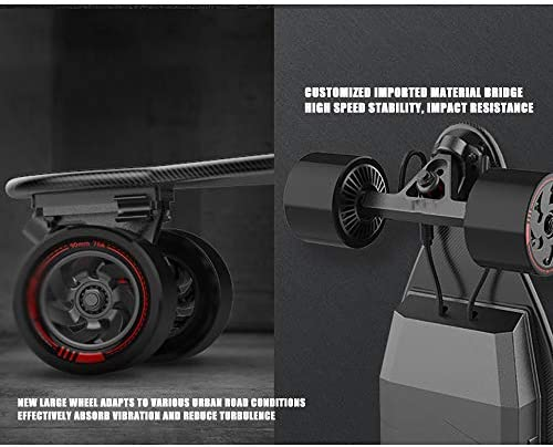WOTR Électrique Longboard, Ergonomique à Distance, Skate-Board électrique pour Adultes Conseil motorisé pour la Sculpture de Planche à roulettes de Jeunes à Pied d'érable de 8 étages
