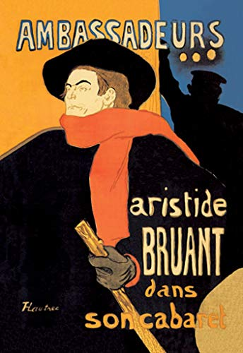BuyEnlarge 0-587-00038-4-DC-36x24_032017 Ambassadeurs Aristide Bruant by Henri De Toulouse-Lautrec Wall Decal, 36