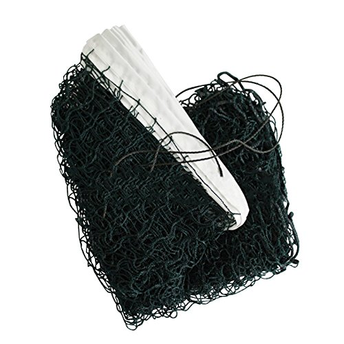 6.1m X 0.76m Standard Badminton Net Professional Sport Training Volleyball Braided Shuttle Cock Square Mesh for Training Match Sports
