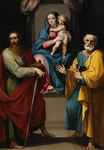 [Perfect Effect Canvas ,the Beautiful Art Decorative Canvas Prints Of Oil Painting 'Giuseppe Cesari,Madonna And Child With Saints Peter And Paul,1608-1609', 16x23 Inch / 41x59 Cm Is Best For Game Room Decor And Home Decor And] (Dead Poets Society Costume)