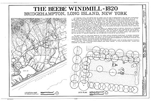 - Historic Pictoric Blueprint Diagram HAER NY,52-BRIG,4- (Sheet 1 of 6) - Beebe Windmill, Hildreath Lane & Ocean Avenue (Moved Several Times), Bridgehampton, Suffolk County, NY 44in x 30in