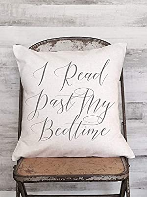 Dozili Pillow Cover I Read Past My Bedtime Calligraphy Style