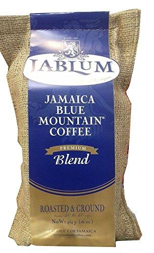 Jamaica Blue Mountain Premium Blend Ground Coffee (16 Ounces)