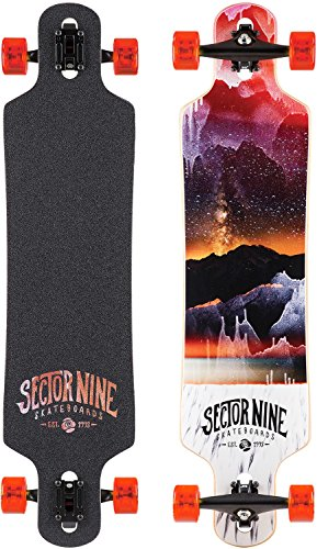 (Sector 9 Meridian Red 2016 Complete Drop Through Longboard Skateboard New)