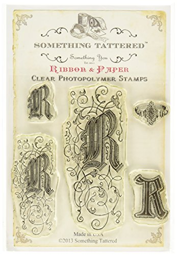 (Something Tattered R Initial Monogram Clear Stamps, 4 by 4-Inch)