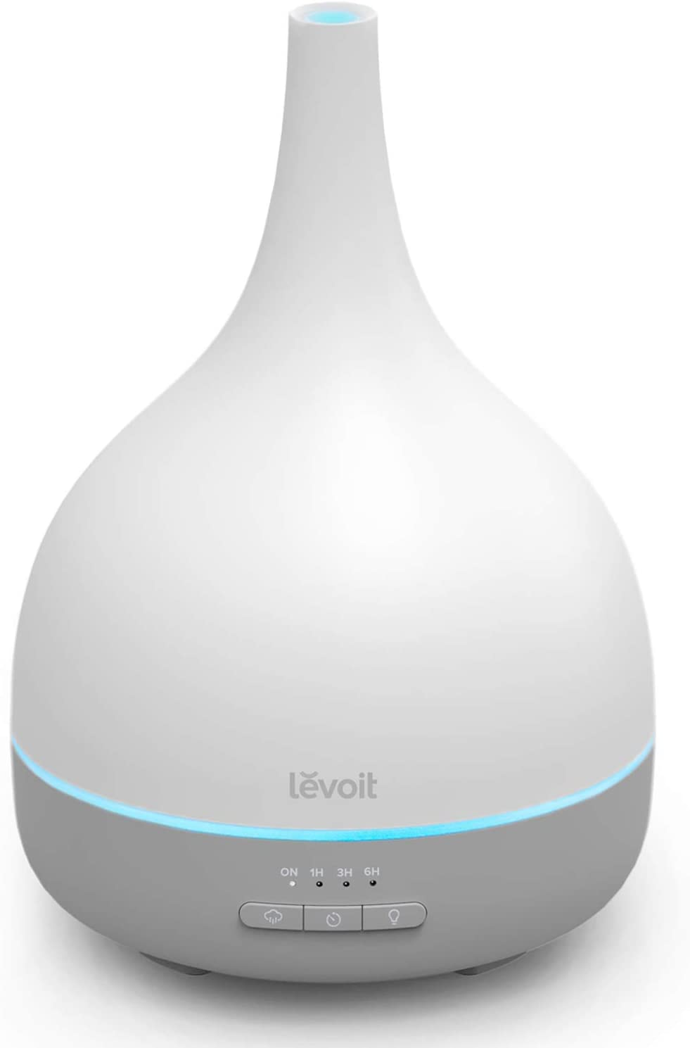 LEVOIT Essential Oil Diffuser, Aromatherapy Diffuser for Essential Oils, Cool Mist Humidifier,300ml Aroma Diffuser with 7 Color Lights & Timer, Auto Shut-off, BPA Free for Home Office Bedroom