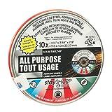 EAB Tool 2142142 4 1/2'' x 3/64'' All Purpose Flat Wheel - Type 1 (10 Pack) Professional Abrasive,