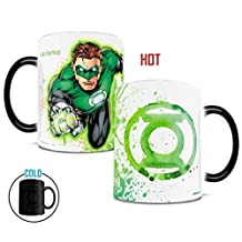 Morphing Mug DC Comics Justice League (Green Lantern) Ceramic Mug, Black