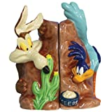 Westland Giftware Looney Tunes Magnetic Road Runner and Wile E Coyote Salt and Pepper Shaker Set, 4-1/4-Inch