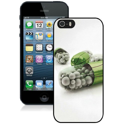 Coque,Fashion Coque iphone 5S Green Basketballs Pills Noir Screen Cover Case Cover Fashion and Hot Sale Design