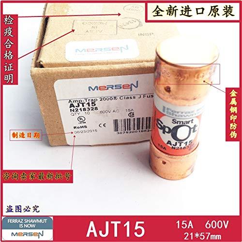 Davitu [SA]MERSEN Fuse Amp-Trap fuses smartSPOT AJT15 15A 600V 21 57mm-3PCS/LOT