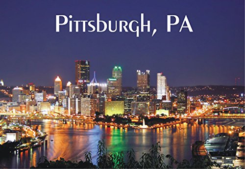 Pittsburgh, Pennsylvania, City, Skyline, PA, Souvenir Magnet 2 x 3 Fridge Photo - Airport Pittsburgh Pa