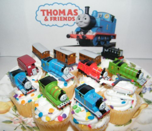 Thomas the Tank Engine Deluxe Set of 12 Cake Toppers Cupcake Toppers Party Decorations with Thomas, (B00EPL0GI6) Amazon Price History, Amazon Price Tracker