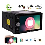 EinCar Android 6.0 GPS Car DVD Player Double Din 6.2'' Capacitive Touch Screen Car Stereo with Bluetooth In Dash GPS Navigation Radio Receiver Support WiFi OBD2 Mirrorlink & Wireless Backup Camera