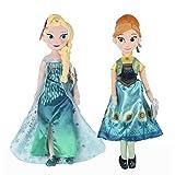 2pcs/lot 50cm Princess Plush Toys New Princess Elsa plush Anna Plush Toy Doll