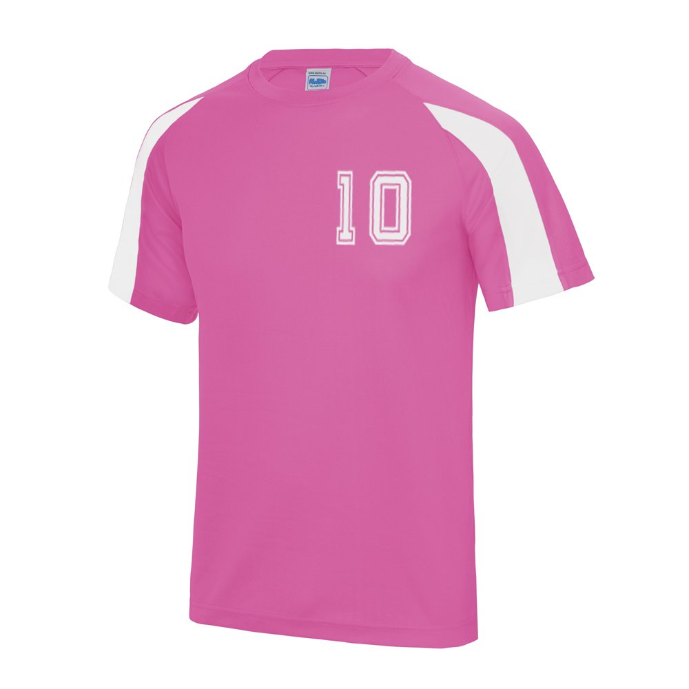 SMS TOGETHER Personalised Football Contrast Shirt Your Name and Number Added Number