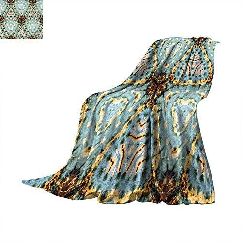- Betterull Tie Dye Decor Custom Design Cozy Flannel Blanket Classic Tie Dye Batik Motif with Bizarre Oriental Multiple Icons Aesthetic Summer Quilt Comforter 70