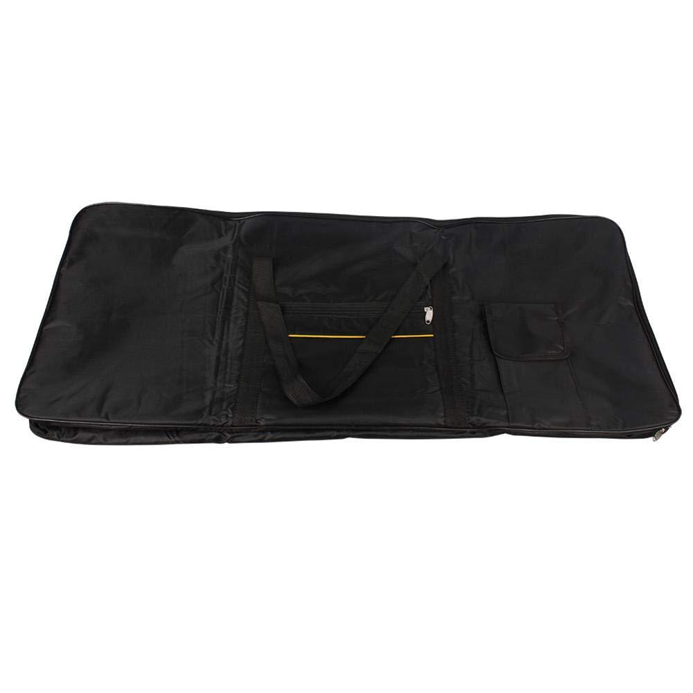 Eruditter Elektronisches Keyboard-Pack Black gelbe Streifen 61 Key Elektronische Tastaturtasche Wasserdichtes Oxford-Tuch Elektronische Tastatur Pack